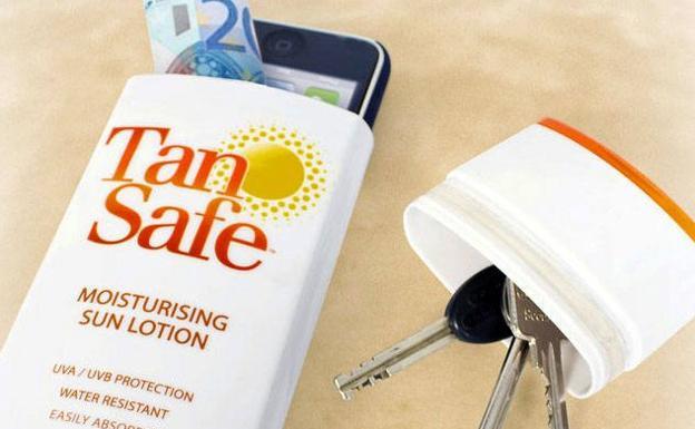 cartera crema solar